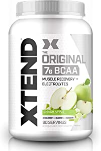 XTEND Original BCAA Powder Smash Apple | Sugar Free Post Workout Muscle Recovery Drink with Amino Acids | 7g BCAAs for Men & Women | 90 Servings