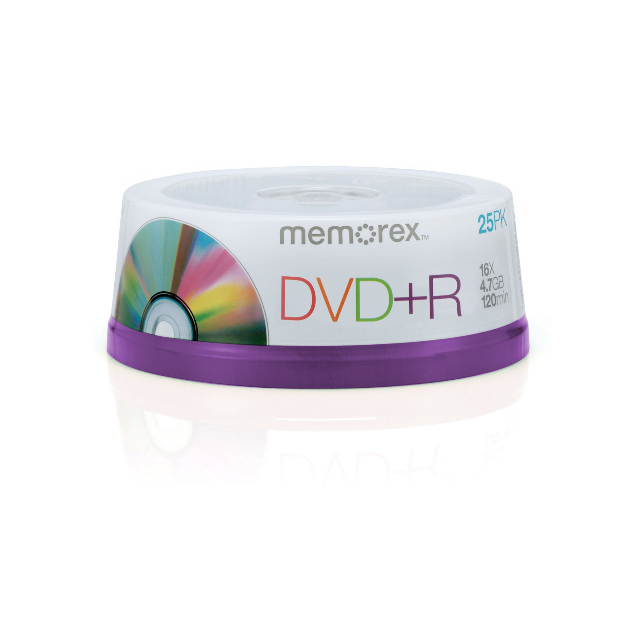 Memorex DVD+R 16x 4.7GB 25 Pack Spindle