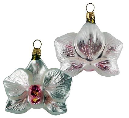 Orchid Christmas Tree.Amazon Com Orchid Flower Polish Glass Christmas Tree