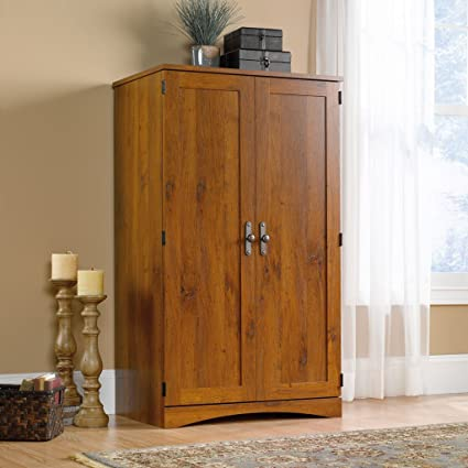 Exceptionnel New Wood Dresser Wardrobe Cabinet Aldwyche Computer Desk Armoire Storage  Bedroom Office Furniture Organizer