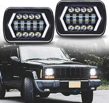 amazon.com: roccs 7x6 6054 led halo headlights, 2pcs square 5x7 ...  amazon.com