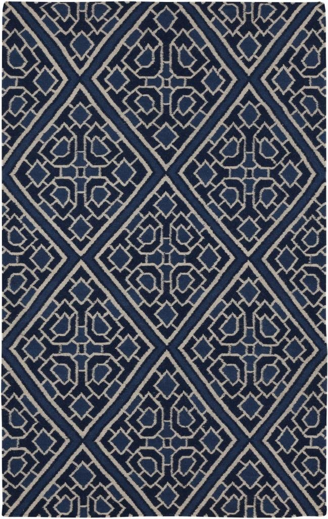 2'6'' x 8' Runner Surya Rug by Beth Lacefield AMD1005-268 Dark Blue Color Flatwoven in India ''Alameda Collection''