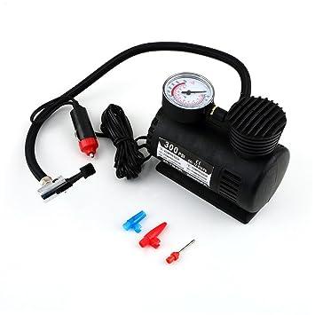 Mini Compresor de Aire Mechero Coche 12 V Manometro para rueda balón bici 2421