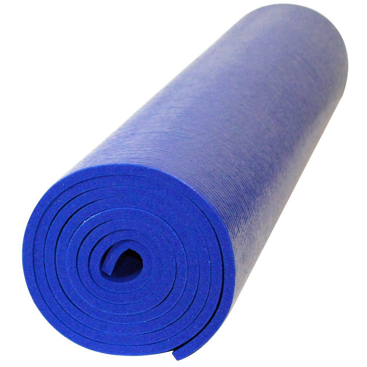 YogaAccessoriesプレミアム重量ヨガマット B0081UKDOY ブルー ブルー