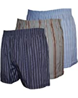 Mens WOVEN Printed Poly Cotton boxer shorts Underwear 12 PK