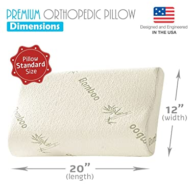 Bamboo Orthopedic Memory Foam Pillow