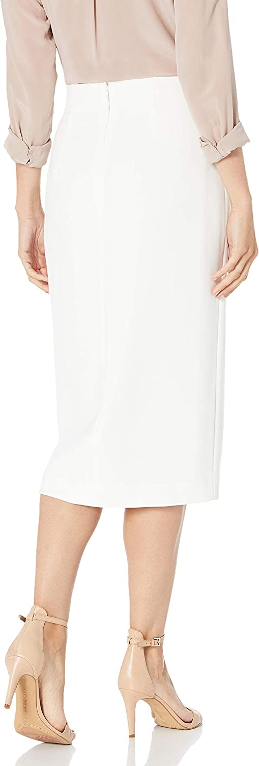 BCBGMAXAZRIA Womens Crepe Side-Slit Skirt