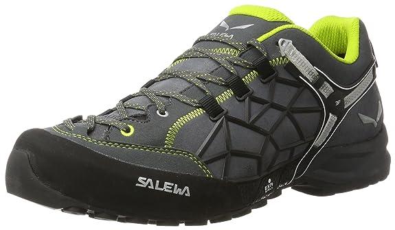 SALEWA Un Wildfire PRO, Stivali da Escursionismo Unisex-Adulto, Grigio (Carbon/Green 0763), 44 EU