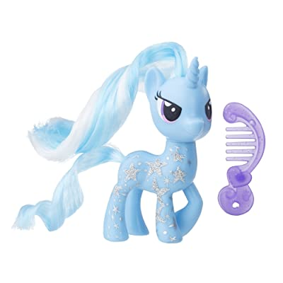 My Little Pony Trixie Lulamoon Glitter Design Pony Figure: Toys & Games