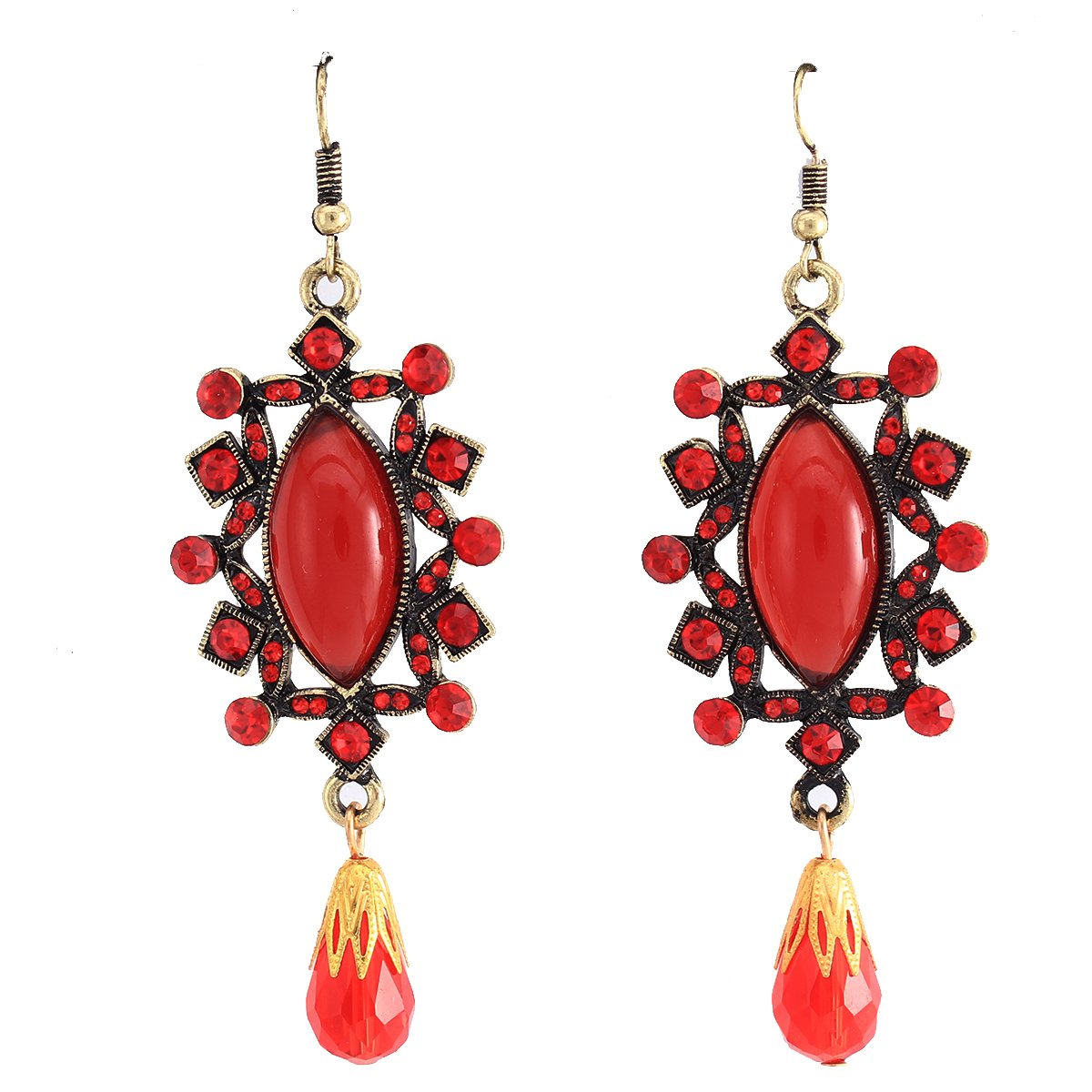 Stuffwhoesale Vintage Oval Ruby Crown with Drop Earring Jewelry Set by Stuffwholesale (Image #5)