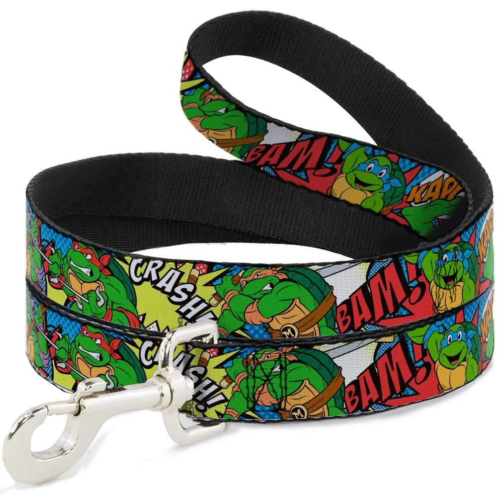Amazon.com : Dog Leash Ninja Turtles Action Poses Action ...