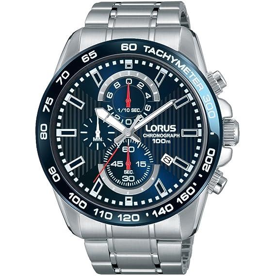 Lorus Reloj Analógico para Hombre de Cuarzo con Correa en Acero Inoxidable RM375CX9: Amazon.es: Relojes
