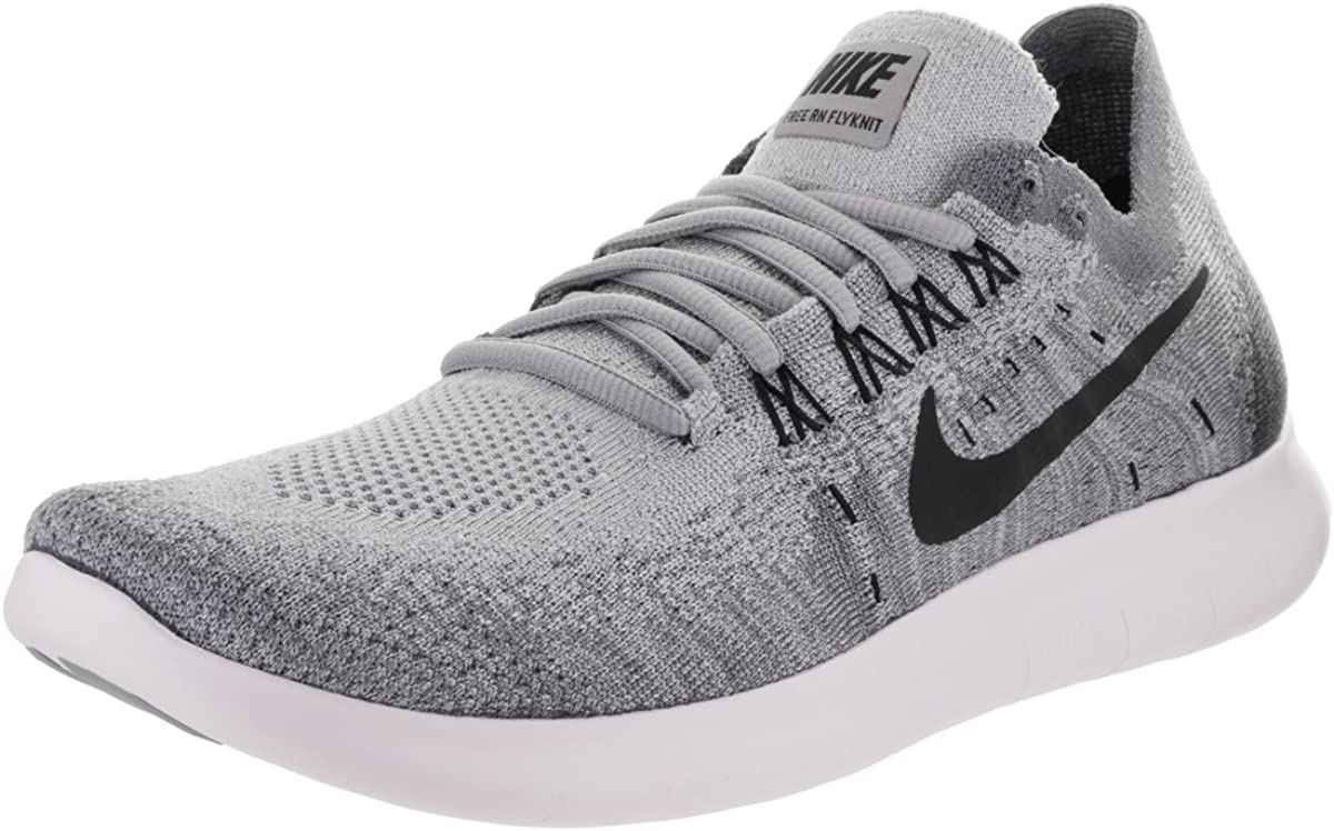Nike Women s Free RN Flyknit 2017 Wolf Grey Black Anthracite Running Shoe