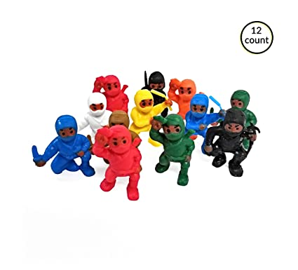 Amazon.com: Ninja Warriors Figurines Novelty Party ...