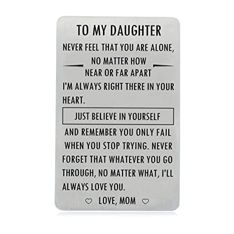 Gifts for Daughter from Mom, to My Daughter Engraved Wallet ...