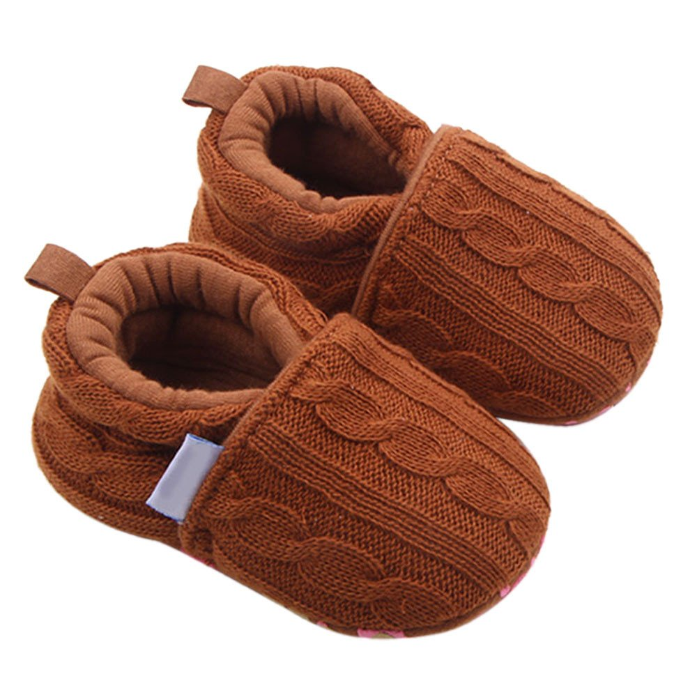 Fashion Cute Toddlers Shoes,Baby Girls Sneaker Solid Knitting Anti-Slip Soft Sole Shoes