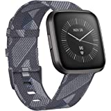CAVN Woven Bands Compatible with Fitbit Versa 2 / Versa/Versa Lite, Fabric Bands for Women Men Breathable Strap Bracelet Wristband Band for Versa 2 / Versa/Versa Lite Smartwatch