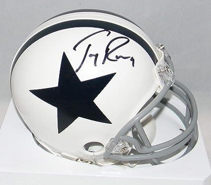 0daa4909f83 Signed Tony Romo Mini Helmet - White - JSA Certified - Autographed NFL Mini  Helmets