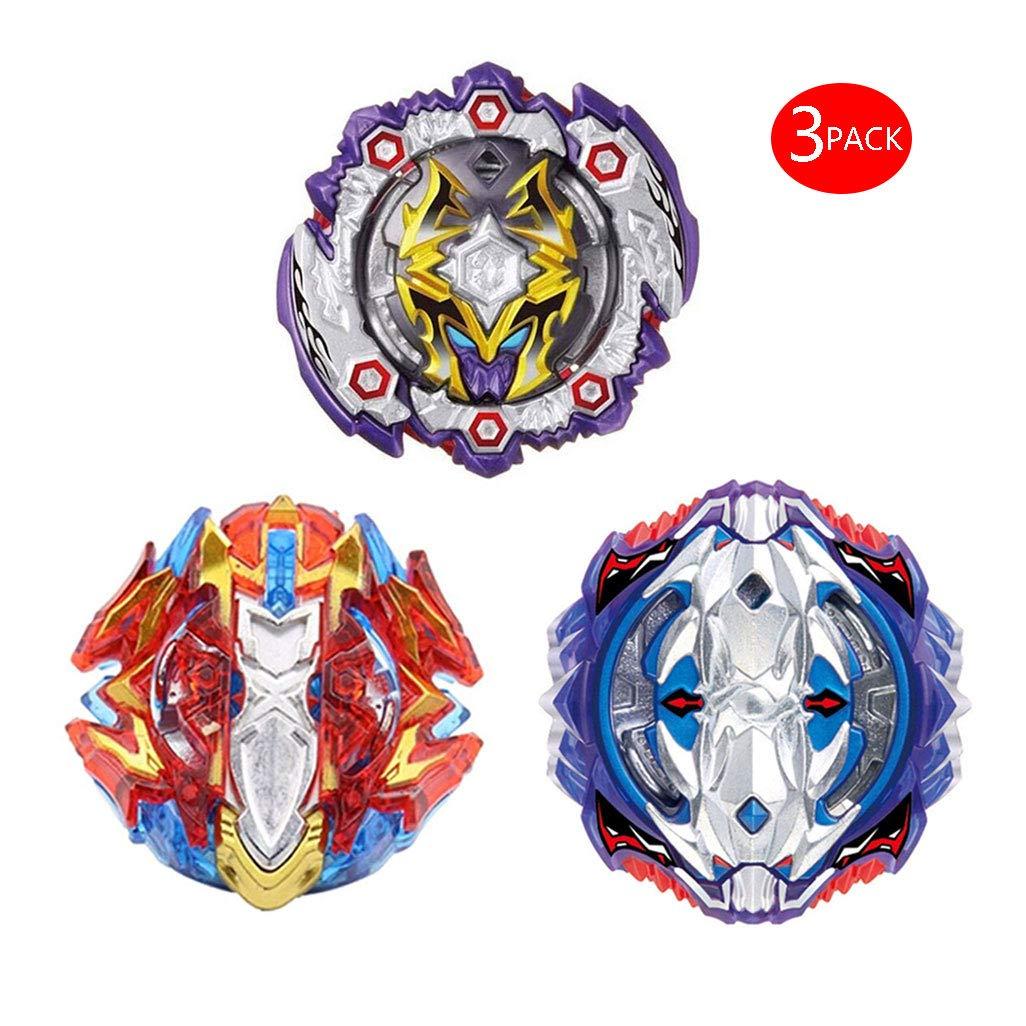 JIENI Beyblade Burst Starter - Beyblade Burst Gyro Set (3 Kreisel + 3 Launcher) - Kreatives Geschenkspielzeug - Pädagogisches Spielzeug - Kampfkreisel - B125+B118+B120