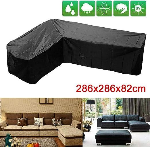 TSL - Funda para sofá de jardín en Forma de L (286 x 286 x 82 cm): Amazon.es: Jardín