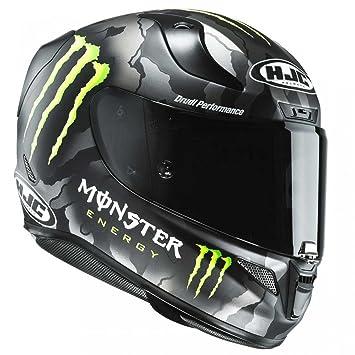 Casco para moto HJC RPHA 11 Monster con diseño de camuflaje militar, en negro y
