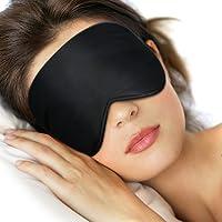 Lifebee Masque des Yeux pour Dormir 100% Soie Naturelle Occultant Ultra-Douce Masque de Sommeil Lanière Réglable
