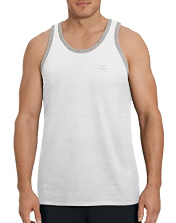 c989287283c1c8 Champion Men s Classic Jersey Ringer Tank Top  Amazon.co.uk  Clothing