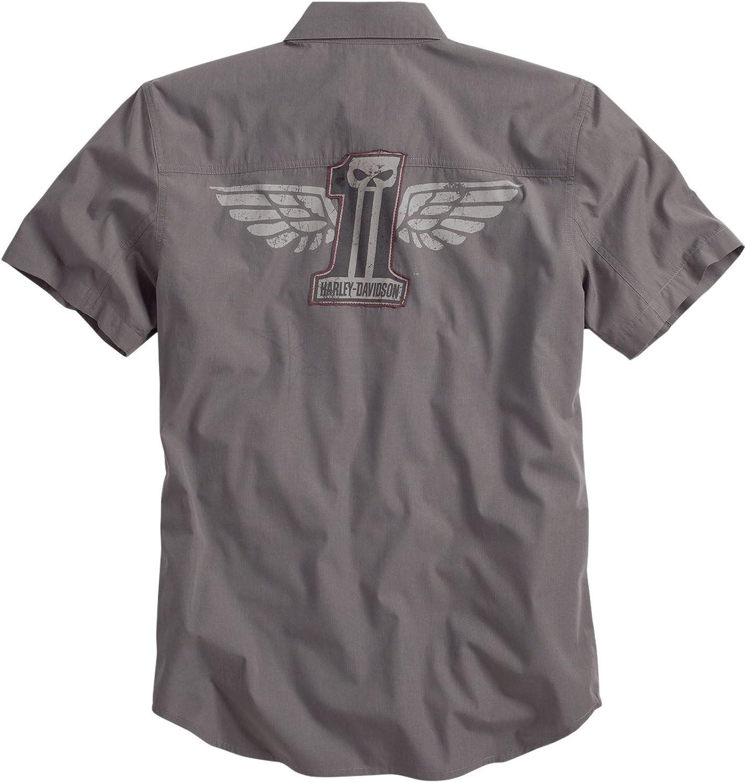 Harley-Davidson - Camisa casual - corte imperio - para hombre gris 58/60: Amazon.es: Ropa y accesorios