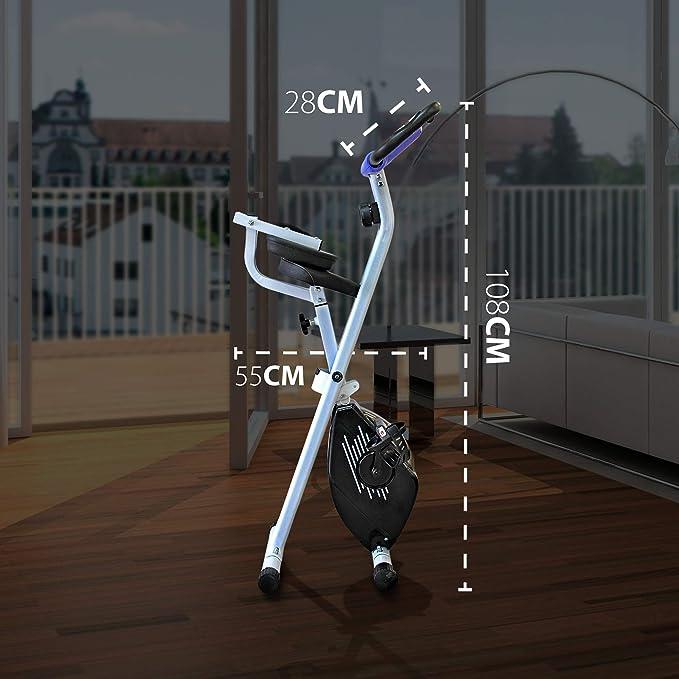 gridinlux. Bicicleta estática Magnética Plegable, Pulsómetro ...