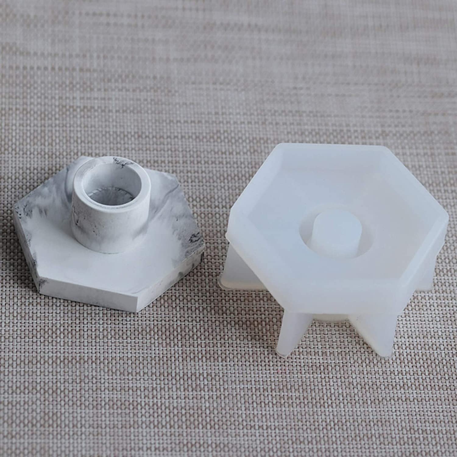 Candlestick Epoxy Resin Molds Silicone Mold Concrete Candlestick ...
