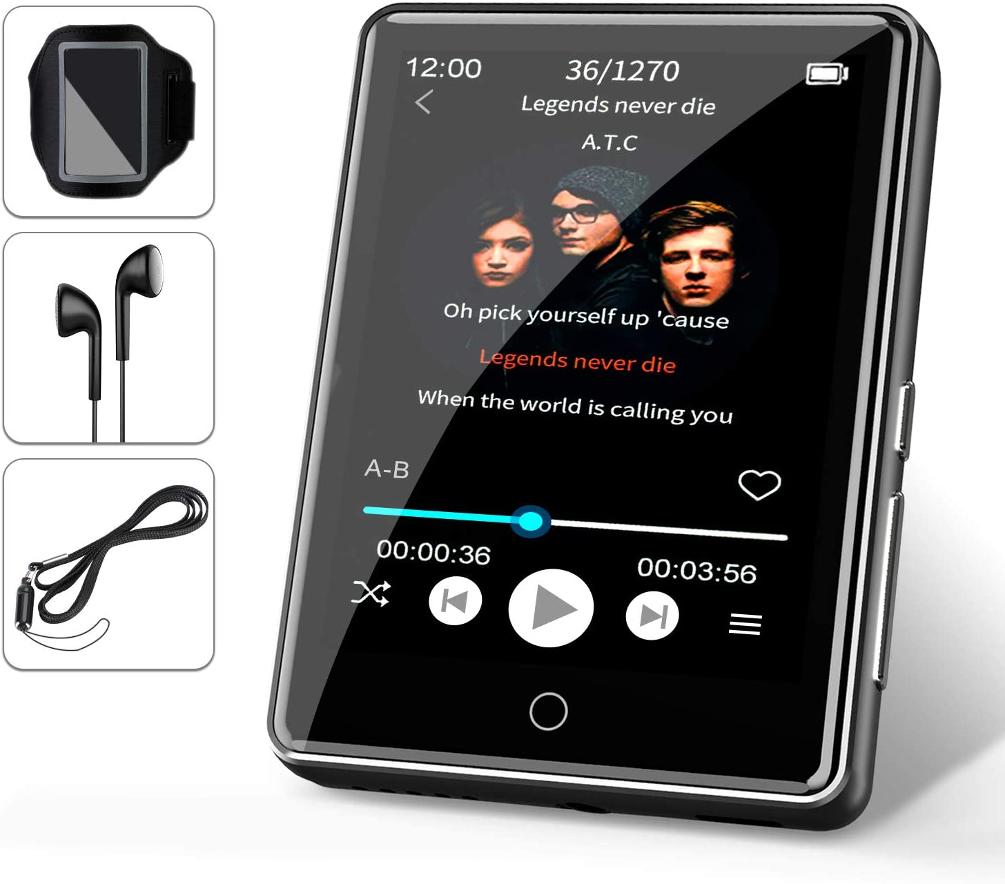 32G Reproductor MP3 Bluetooth 5.0 JBHOO 2.8