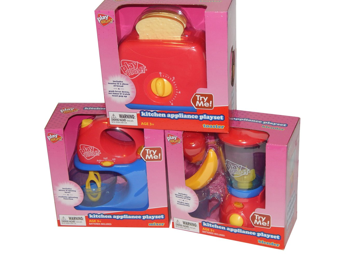 Jugar derecho mezclador licuadora tostadora juguete 3 piezas ...