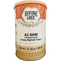 Original A2 Gir Cow ghee, Grass-fed, Pasture Raised 31.88 oz (904g) - made from A2 Milk, Lactose & Casein free, Non GMO, Keto Friendly