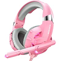 RUNMUS Gaming Headset Xbox One Headset PS4 Headset with Noise Canceling Mic & LED Light, Compatible with PC, PS4, PS5…