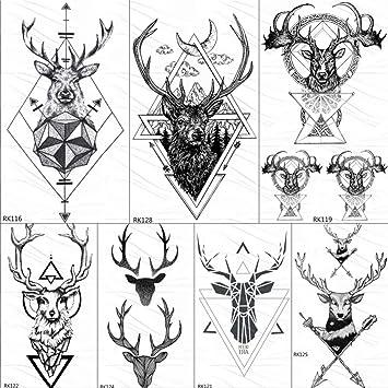 Tatuajes Temporales Adultos Tatuajes De Triángulos Temporales De ...