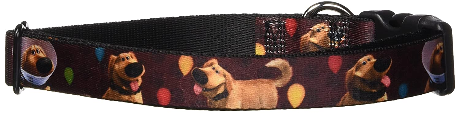 1\ Buckle-Down PC-WDY294-L Dog Collar Plastic Clip Buckle, 1 x15-26 , Dug 4-Poses Balloons Paw Print Red