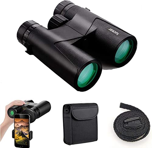 Binoculars for Adults Professional Binocular Compact for Bird Watching Outdoor Sports, IP7 Waterproof Fog-Proof HD Optics Telescope BAK4 Prism FMC Lens with Smartphone Adapter Black1