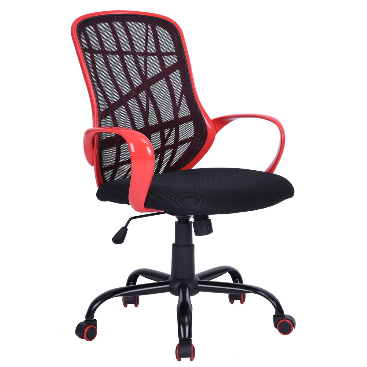 Red House in Box Mesh Office Chairs Ergonomic Swivel Computer Desk Chairs (White)