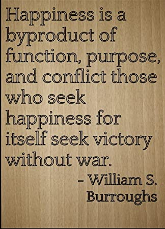 Amazoncom Happiness Is A Byproduct Of Function Quote By