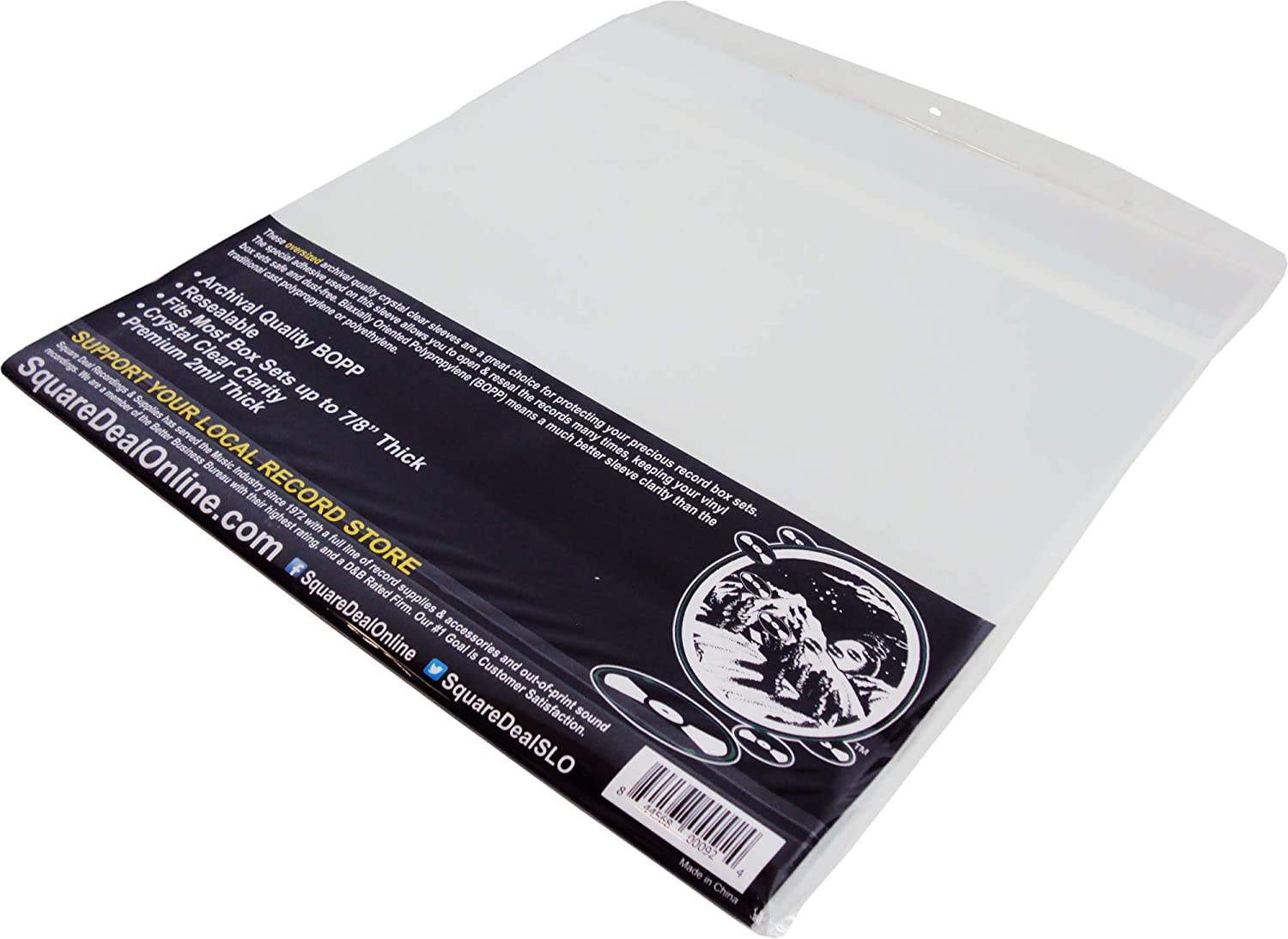 Amazon Com 25 12 Resealable Oversize Record Outer Sleeves Super Clear Premium 2 Mil Thick Archival Quality Bopp 13 7 8 X 13 1 4 1 5 8 Flap Fits Most Box Sets Up To 7 8 Thick 12sb02rsos Electronics