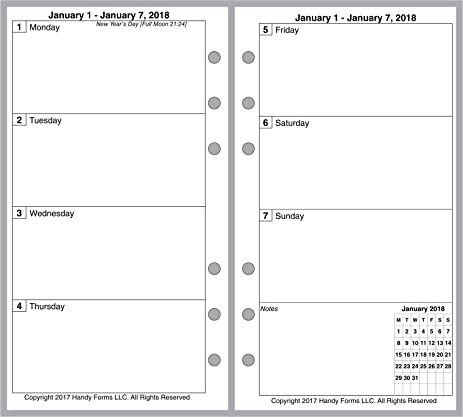 Amazon 2018 Weekly Monthly Planner For Personal Size