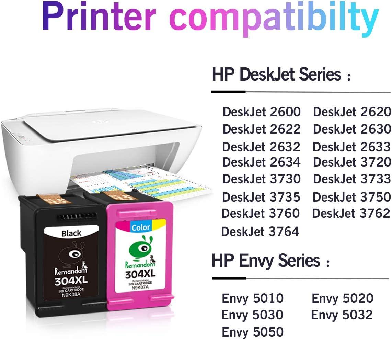 Remandom 304XL - Cartucho de Tinta remanufacturado para HP 304 ...