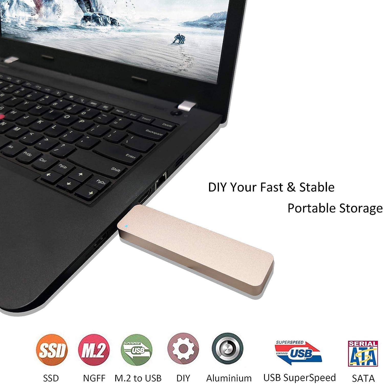 Rosso custodia esterna per M.2 SSD DREVO Crucial Transcend e altro ADWITS USB 3.0 UASP a SATA NGFF M.2 2230//2242//2260//2280 Key B o B /& M SSD SuperSpeed Adattatore