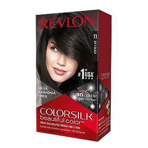 Revlon ColorSilk Beautiful Color, Soft Black [11] 1 ea (Pack of 6)