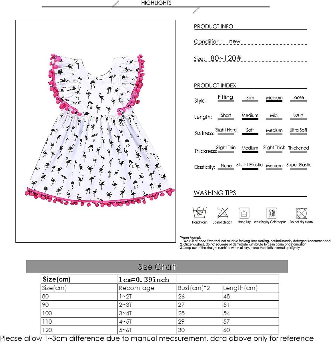 Toddler Baby Kid Girl White Full Print Birds Flounce Sleeve Midi One Piece Dress
