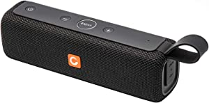 Bluetooth Speaker, DOSS E-go II Portable Bluetooth Speakers with 12W Superior Sound and Bass, IPX6 Waterproof, Built-in Mic, 12H Playtime, Wireless Speaker for Home, Beach, Outdoor and Travel - Black
