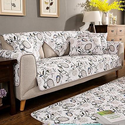 Amazon.com: JINGJIE Sofa slipcover,Cotton Upholstered Sofa ...