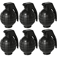 "Pack of 6 4.3""Toy Hand Grenades Action Commando Series Toy Pineapple with Lights and Sounds for Pretend Play Black"