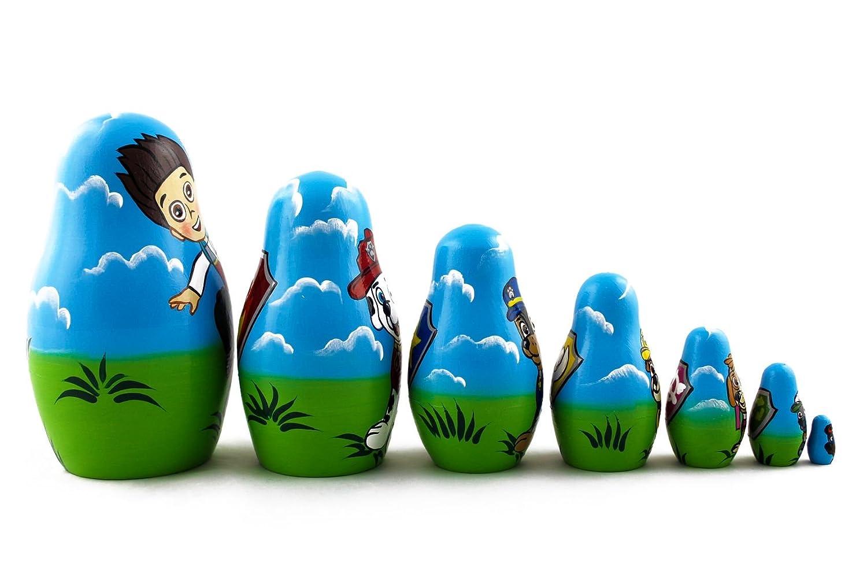 Amazon.com: Matryoshka Paw Patrol Cartoon Toys Babushka Russian ...