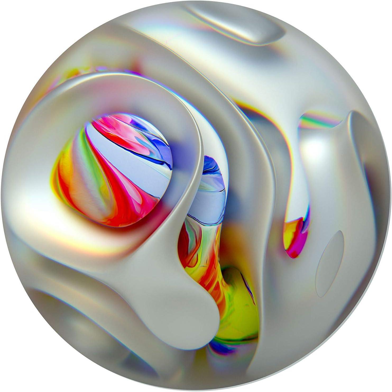 Startonight Glass Wall Art - Circle Rainbow Globe Decor - Tempered Acrylic Glass Artwork 24 Inches